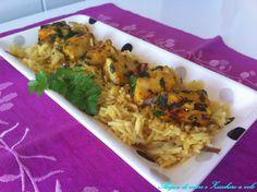 Persico speziato su basmati e cipolla