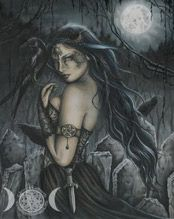 Ravens and the Morrigan: Irish Goddess of War - A conspiracy of ravens is interwoven with the Morrigan mythology like a Celtic knot. But why are these birds so linked with Ireland's darkest deity? Funny how this links to my Celtic heritage Celtic Mythology, Celtic Goddess, Celtic, Goddess, Fantasy Art, Dark Fantasy, Art, Fairy Art, Irish Goddess