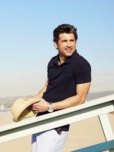 Patrick Dempsey for #SacoorBrothers Spring Summer 2014.  #patrick dempsey #SacoorBrothers #fashion #summer #outfit