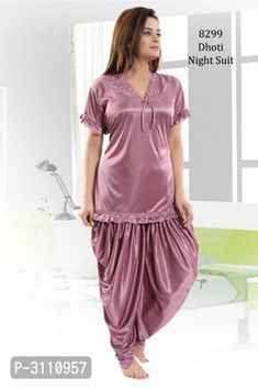 Dil toh Happy Hai Ji with Trendy Satin Patiala Lounge Sets from Tharsith Collection Girls Night Dress, Night Dress For Women, Casual Work Outfits, Work Casual, Pretty Lingerie, Lingerie Set, Patiala Salwar, Night Wear, Punjabi Suits