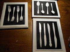 Forks Spoons and Knives kitchen wall decor DIY