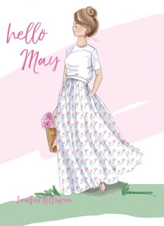 Afbeeldingsresultaat voor rose hill designs by heather stillufsen Days And Months, Months In A Year, Spring Months, 12 Months, Girly Quotes, Art Quotes, Happy Quotes, Neuer Monat, Hello May