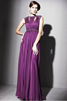 Beautiful Couture Purple Level Neck Ball Gown - 2811553