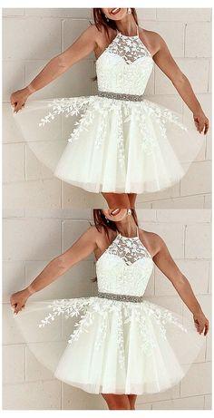 Cute Formal Dresses, Semi Dresses, Hoco Dresses, Event Dresses, Dress Prom, 8th Grade Formal Dresses, Semi Formal Dresses For Teens, White Semi Formal Dress, 8th Grade Graduation Dresses