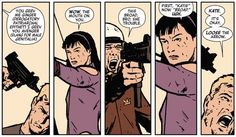 There is no time for derogatory terms for ladies. | Community Post: 24 Reasons Why You Should Be Reading Matt Fraction's Hawkeye