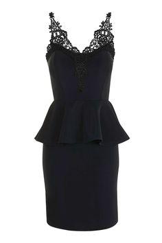 7d5c620425f6d9   Lace Bust Peplum Dress by Wal G Goedkope Jurken