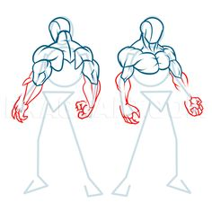 How To Draw Muscles, Step by Step, Drawing Guide, by KingTutorial | dragoart.com Arm Drawing, Body Reference Drawing, Drawing Guide, Drawing Poses, Art Reference, Gesture Drawing, Human Anatomy Art, Anatomy Drawing, Mens Body Types