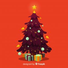 christmas tree background Hand drawn christmas tree illustration F. Christmas Tree Graphic, Christmas Tree Drawing, Christmas Tree Background, Christmas Tree Themes, Xmas Decorations, Xmas Tree, Christmas Christmas, Vector Christmas, Christmas Tree Illustration