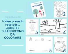 6 idee prese in rete: libretti fai da te da stampare e colorare sull'inverno Boarding Pass, Travel, Mamma, Milani, Google, Winter Time, Viajes, Destinations, Traveling