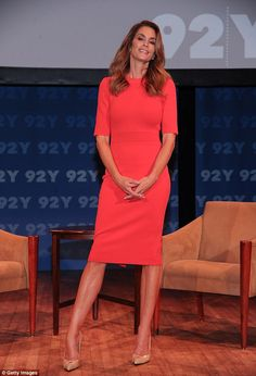 She knows her clothes: On Tuesday Cindy Crawford sat down to discuss what it meant to be a fashion icon at the 92nd Street Y, a community and cultural centre in Manhattan