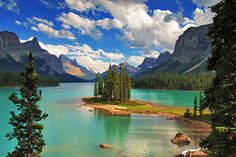 Spirit of the Rockies - Jasper National Park, Alberta. Spirit island