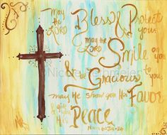 Hey, I found this really awesome Etsy listing at https://www.etsy.com/listing/181257357/may-the-lord-bless-you-painting-numbers