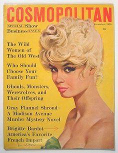Cosmopolitan magazine, NOVEMBER 1958  Model: Brigitte Bardot Artist: Jon Whitcomb