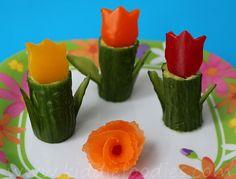 Tulip garden snack for kids