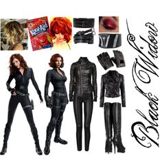 """""""Black Widow Halloween Costume"""" by mikymou5 on Polyvore"""