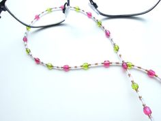 Glam up your reading glasses with this fab beaded specs chain and visit my shop for other colors and designs. Reading glasses fashion trend.