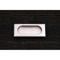 """This satin nickel finish cabinet/drawer flush pull with thick rectangle design and 7/16"""" recess is from RK International perfect for use on cabinet doors and drawers capable of accepting a mounted pull."""