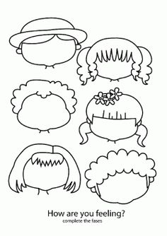 Yüz Kalıbı. Face expressions printables. Molde del Expresiones faciales. Лицевые выражения.