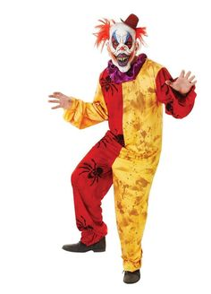The Dragons Den Fancy Dress - Adult Halloween Horror Clown One Size Fancy Dress Costume with Mask, £31.95 (http://www.thedragonsdenfancydress.co.uk/mens/halloween/adult-halloween-horror-clown-one-size-fancy-dress-costume-with-mask/)