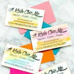 Learn how to use the Silhouette Mint stamp making machine to make your own watercolor business cards with a gold edge!
