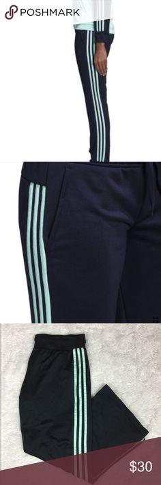 fe13eb5dd8fb Adidas black and mint tracksuit pants Adidas tracksuit pants. Black and mint  colored. Has