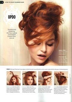 Hairdo step by step : easy summer hair #summer #hair #messy