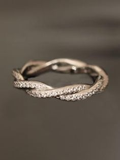 wedding band to be fitted with a simple engagement ring. lovely just on its own.  I like small