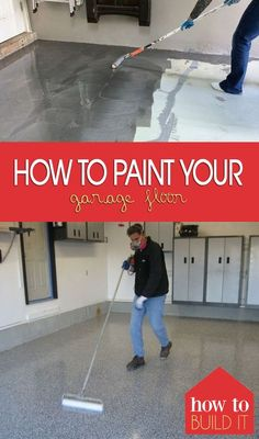 Paint your garage floor easily with this awesome method! How to Paint Your Garage Floor