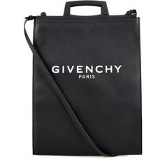 Givenchy Rave medium logo-print coated-canvas tote ($1,350) ❤ liked on Polyvore featuring bags, handbags, tote bags, black, black tote, givenchy tote bag, givenchy purse, coated canvas handbag and givenchy tote
