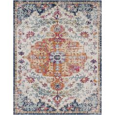 Distressed Bohemian Multicolor Medallion Area Rug (7'10 x 10'3) | Overstock.com Shopping - The Best Deals on 7x9 - 10x14 Rugs