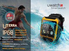 89.94$  Buy now - http://aliq9p.worldwells.pw/go.php?t=32453845126 - 2016 Bluetooth Smart Watch WristWatch U Watch Uterra IP68 Waterproof Pedometer IPS Screen For IOS Samsung  HTC Lenovo Huawei LG