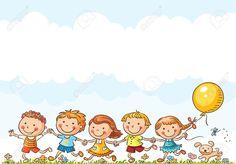 36761177-Felices-los-ni-os-de-dibujos-animados-que-se-ejecutan-al-aire-libre-en-un-d-a-de-verano-Foto-de-archivo.jpg (1300×907)