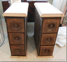 Sewing drawers repurposed | Uniquely Yours... or Mine!