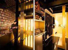O arquiteto Gary Chan, de Hong Kong, transformou seu apartamento de 32m² em um ambiente inteligente e tecnológico. Com paredes que deslizam, ele consegue até 24 combinações, ou seja, 24 ambientes diferentes.