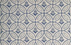 Circle Ornament Wallpaper American (Janes & Bolles Collection) 1822-27  Adelphi's (custom wallpaper company who sells this pattern) Janes & Bolles Collection is reproduced from the earliest known American wallpaper sample book, now in the collection of Old Sturbridge Village. It was produced by the firm of Janes & Bolles, which operated from 1822-1827 in Hartford, Connecticut. The sample book provides 22-inch square samples of each pattern, with alternate colorways for most of the patterns…