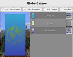 The Minecraft Globe Banner Banner was contributed by Faint_Whispers. Minecraft Mansion, Minecraft City, Minecraft Plans, Minecraft House Designs, Minecraft Construction, Minecraft Tutorial, Minecraft Blueprints, Minecraft Creations, Minecraft Houses