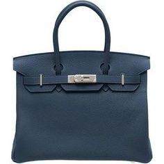 Hermes Birkin Bag in Navy as seen on Kylie Jenner