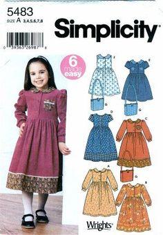 Simplicity 5483 Sewing Pattern Girls Dress & Bag Size 3 - 8 Simplicity http://www.amazon.com/dp/B002T39F48/ref=cm_sw_r_pi_dp_PWi1vb15ARNZC