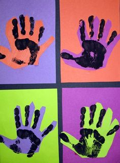 pop art warhol hands