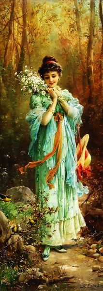 Hans Zatzka Edelweiss La Foret print for sale. Shop for Hans Zatzka Edelweiss La Foret painting and frame at discount price, ships in 24 hours. Cheap price prints end soon. Classic Paintings, Paintings I Love, Beautiful Paintings, Art Paintings, Indian Paintings, Abstract Paintings, Landscape Paintings, Woman Painting, Painting & Drawing