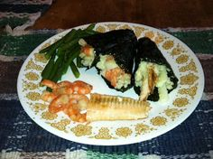 Sandy's Kitchen: Sushi Hand Rolls - Medifast Approved!