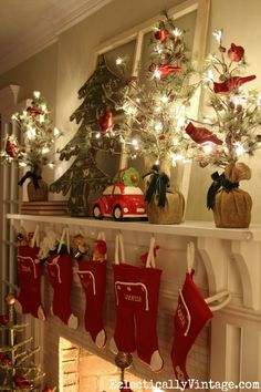 Christmas Night Home Tour - love this home all lit up and sparkling eclecticallyvintage.com White Christmas Tree Decorations, White Christmas Trees, Christmas Love, Christmas Night, Christmas Holidays, Rustic Christmas, Indoor Christmas Lights, All Things Christmas, Merry Christmas