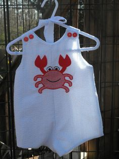 Crab Applique Jon Jon by GamsDesigns on Etsy, $28.00