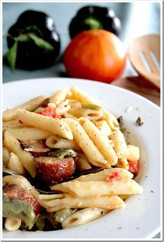 one - pot Pasta with Peppers & Sausage