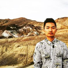 @ng1336 poses for his #portrait at the #beautiful #rockformation #artistspalette #deathvalleynationalpark in his #painkilleratelier shirt #travel #travelgram #roadtrip #nature #igtravel #fashion #style #gaysian #vacation #hiking #natgeotravel #nationalpark #lonelyplanet #lifewelltraveled #gayboy #gaycation #gaytravel #instagay #instacolor #wanderlust #worldcaptures #worldtraveler #globetrotter #passionpassport by thebomze