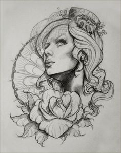 Tattoo Inspiration Woman portrait