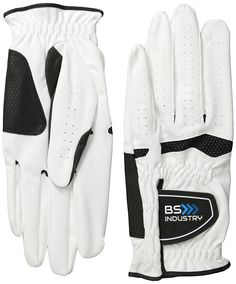 Golf Glove Mens All Weather Cabretta Synthetic Leather Natural Fit Velcro Golf Glove