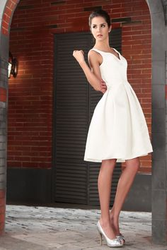 a collection of different white dresses for bridesmaids  perfect rehaersal dinner dress