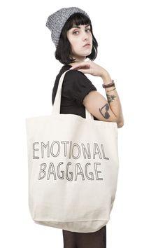 Emotional Baggage tote bag | Stay Home Club