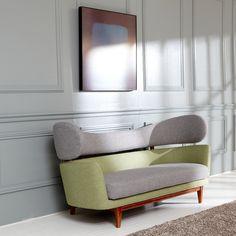 Baker Sofa - Light Grey and Black